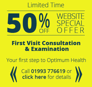 Limited time, 50 percent website offer for first chiroractic consultation and examination in our witney shiropractor clinic